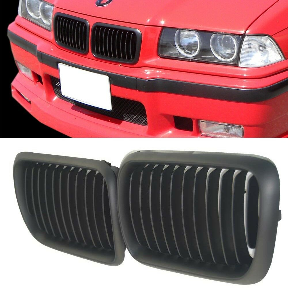 Black Kidney Front Grilles Grill For Bmw E36 3 Series M3