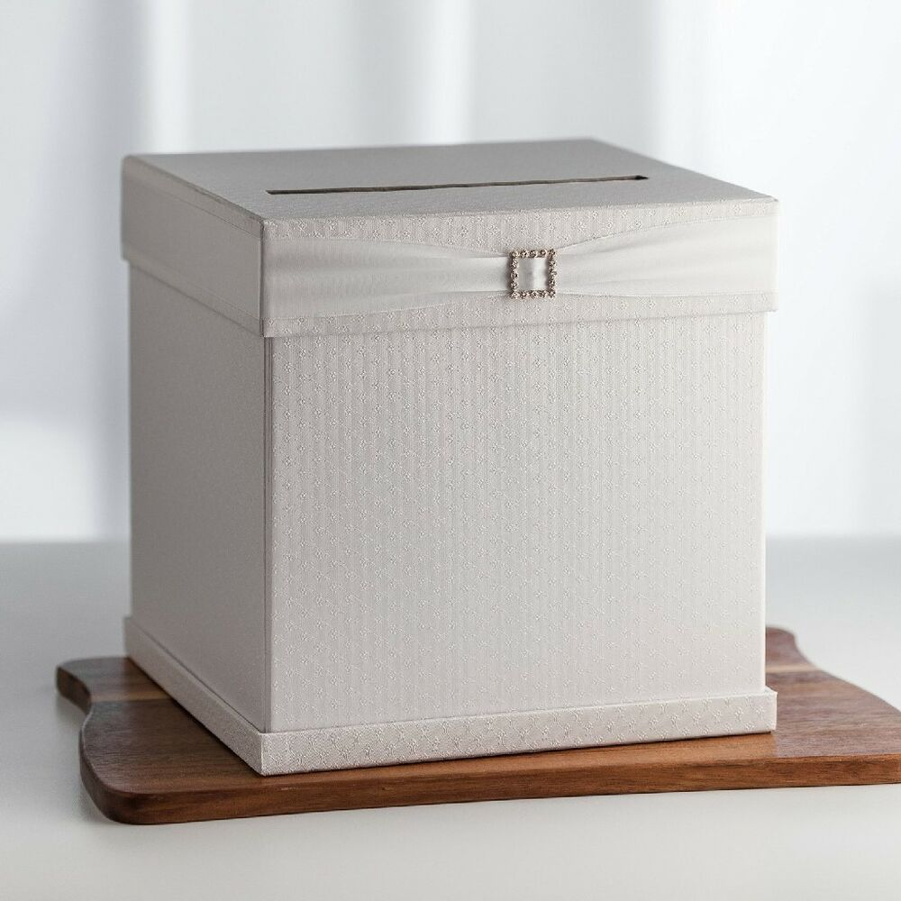 Wedding Card Boxes For Receptions: Wedding Card Box Money Storage Ribbon Textured Party Event