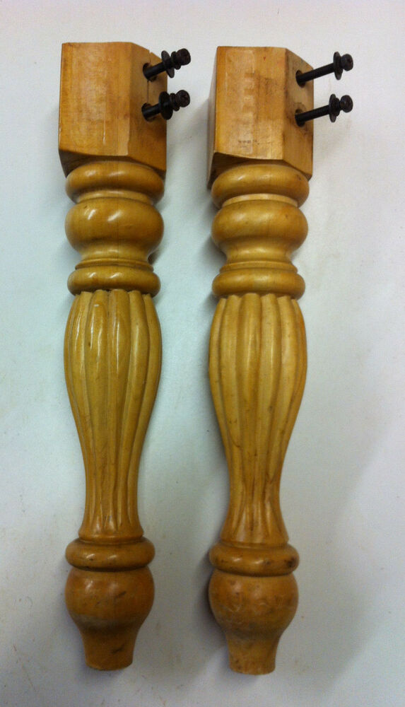 Wooden Spindle Table ~ Two solid wood chair table legs spindles quot vintage