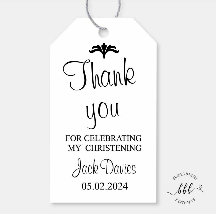 10 Gift Tags Baptism Christening Confirmation Bomboniere ...