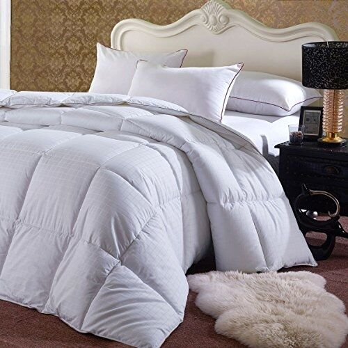 overstuffed comforter goose down alternative fill king california king size ebay. Black Bedroom Furniture Sets. Home Design Ideas