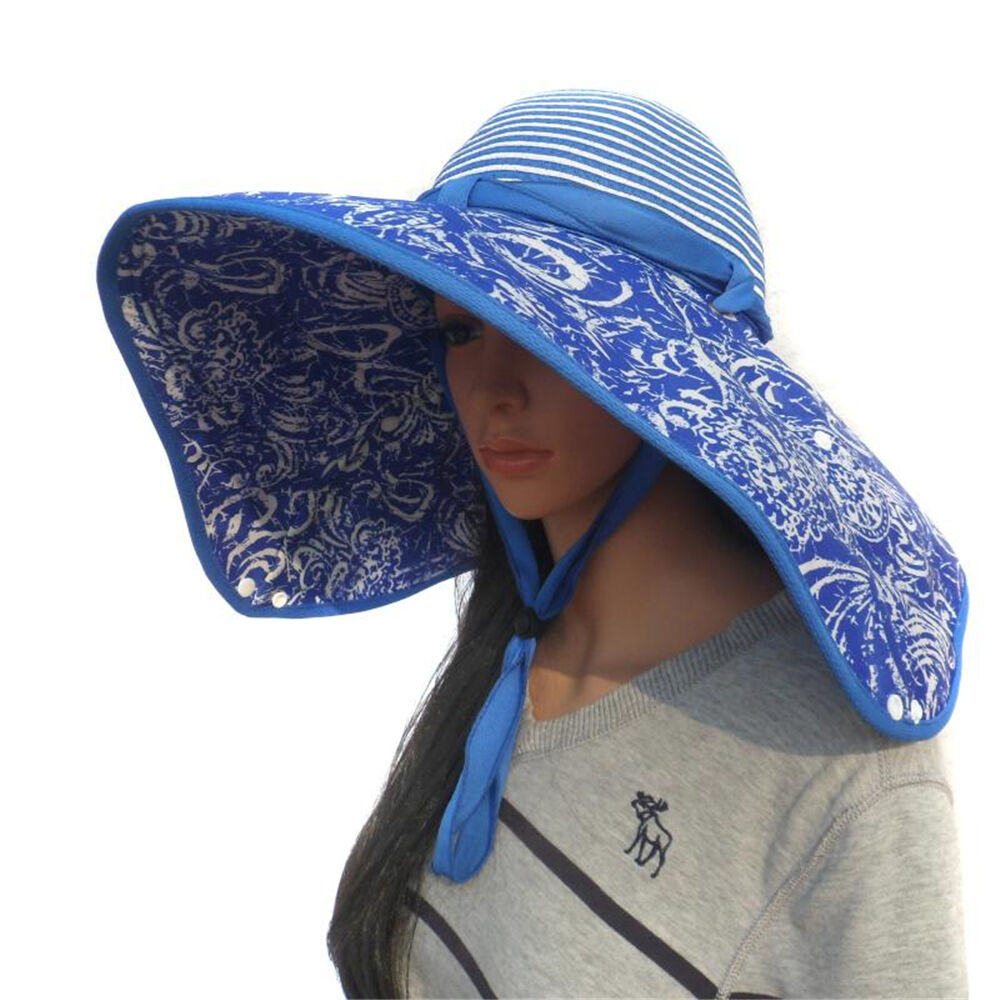 New straw cotton design wide brim sun hat folding camping for Fishing sun hat