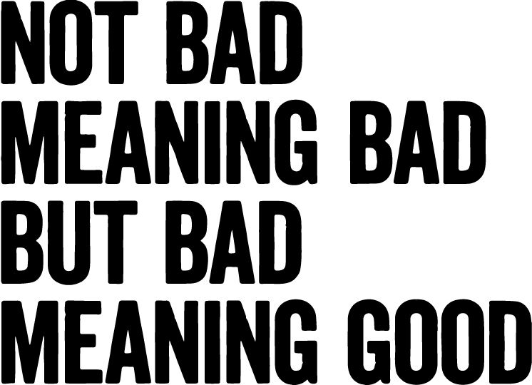 Not Bad Meaning Bad But Bad Meaning Good vinyl decal Run DMC