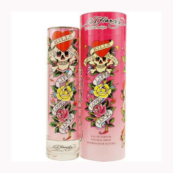 Ed Hardy Hearts Daggers Perfume 1 7oz Edp Spray Women New 94922190000: ED HARDY 1.7 Oz 50 Ml Spray WOMEN Eau De Parfum Edp PERFUME Christian Audigier 719346568944