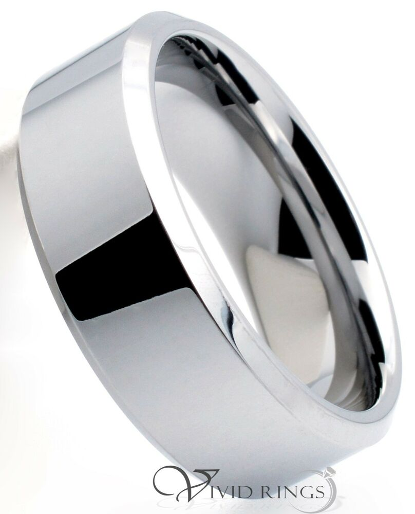mens tungsten carbide ring wedding band 8mm size 7 to 14. Black Bedroom Furniture Sets. Home Design Ideas