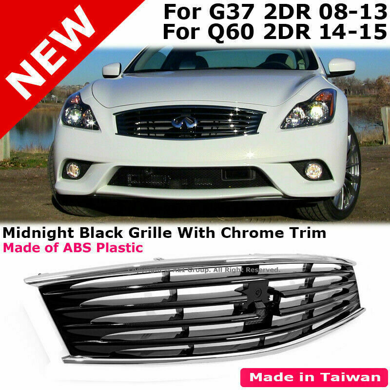 For Infiniti 10-13 G37 14-15 Q60 2Dr Midnight Black Front ...