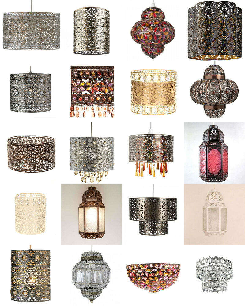 Shabby Chic Moroccan Light shade Ceiling Pendant Lampshade ...