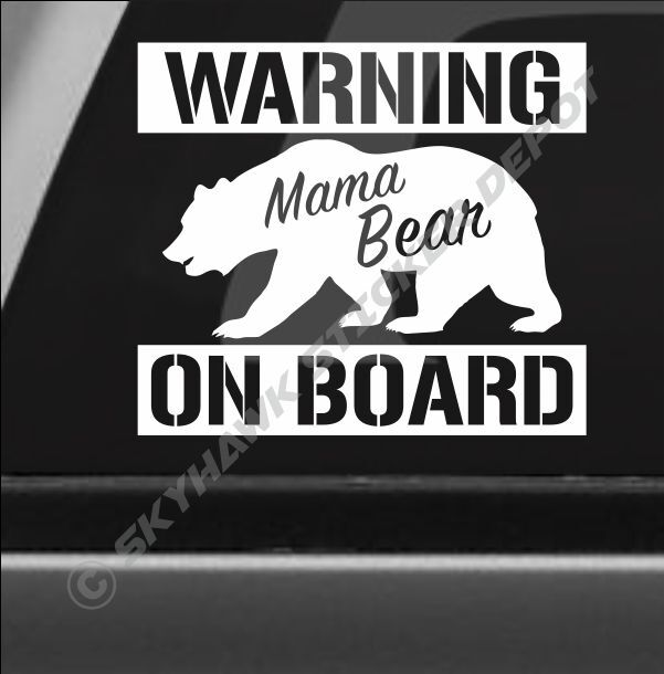 Muscle Car Decals >> Funny Mama Bear On Board Bumper Sticker Decal Warning Decal Car Baby On Board | eBay