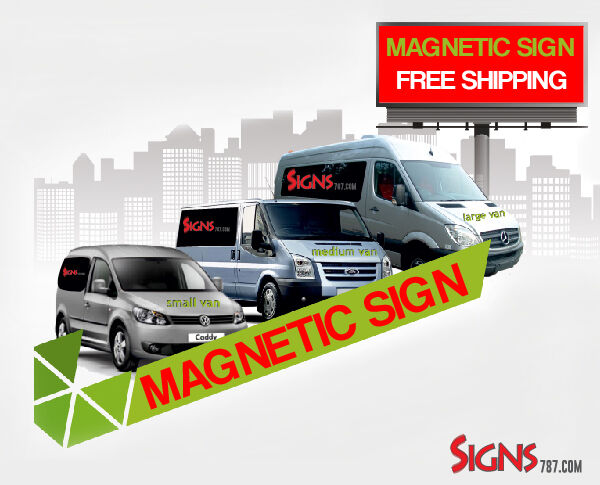 2 12x24 custom car magnets magnetic auto truck signs ebay for 12 x 24 car door magnets