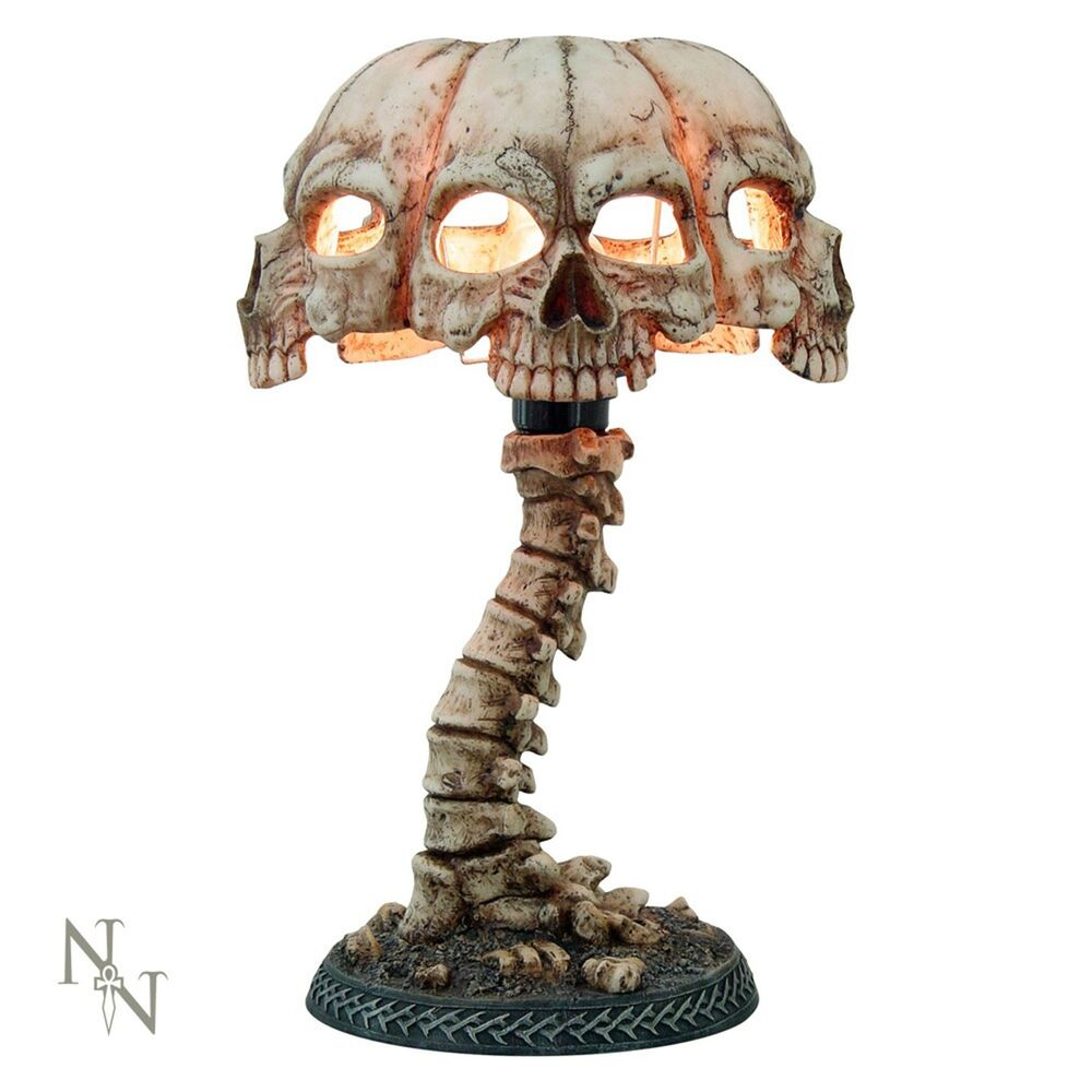 Atrocity Table Lamp 37 5cm High Gothic Skull Desk Light