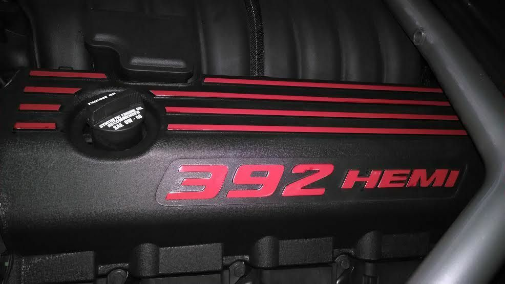 srt srt  hemi engine cover decals  dodge charger       ebay