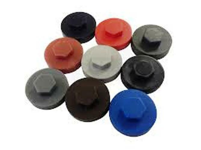 Plastic Caps For Roofing Sheet Screws Roof Fixings 8mm Hex