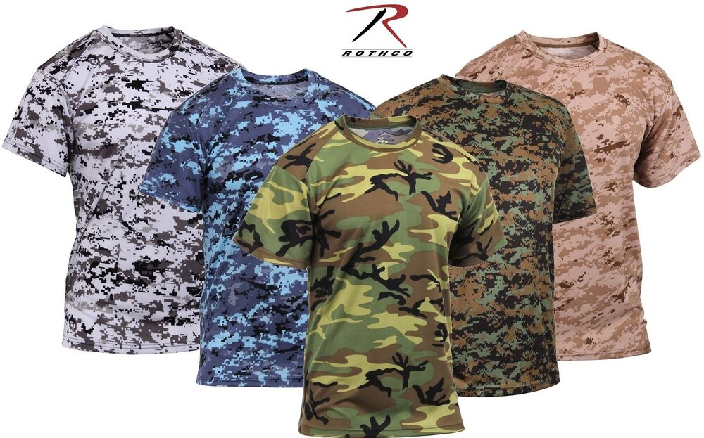 camouflage polyester performance t shirt rothco quick dry camo tee. Black Bedroom Furniture Sets. Home Design Ideas