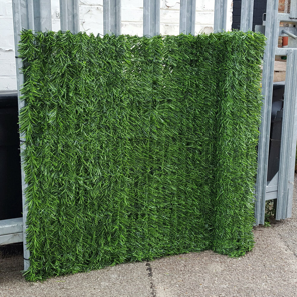Evergreen artificial conifer hedge plastic fence privacy for Plastic garden screening panels
