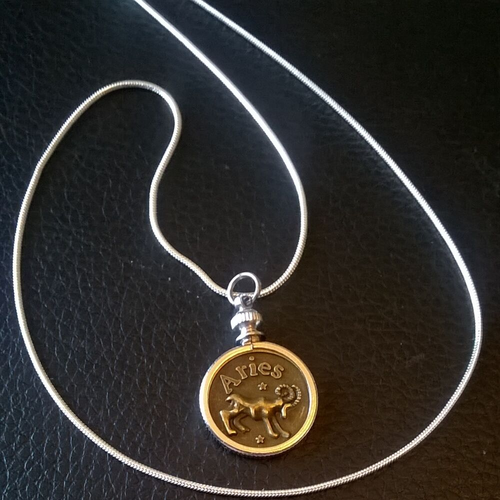 Artistic Timeless Zodiac Coin Necklace Aries Taurus Gemini