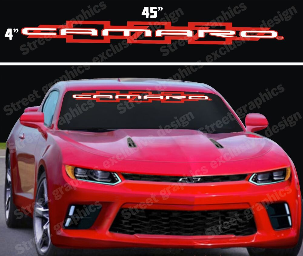 CAMARO WINDSHIELD VINYL DECAL STICKER 2 COLORS | eBay