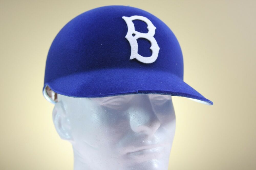 1955 brooklyn dodgers cap original style vintage game baseball batting helmet