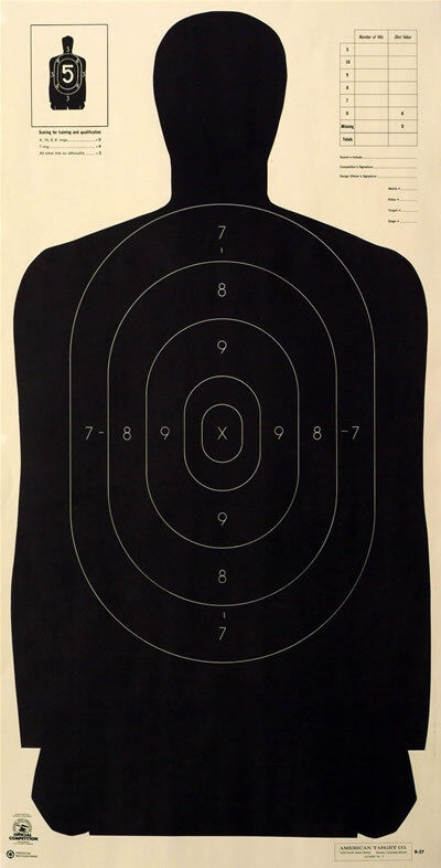B 21 Police Shooting Targets Official NRA B-...
