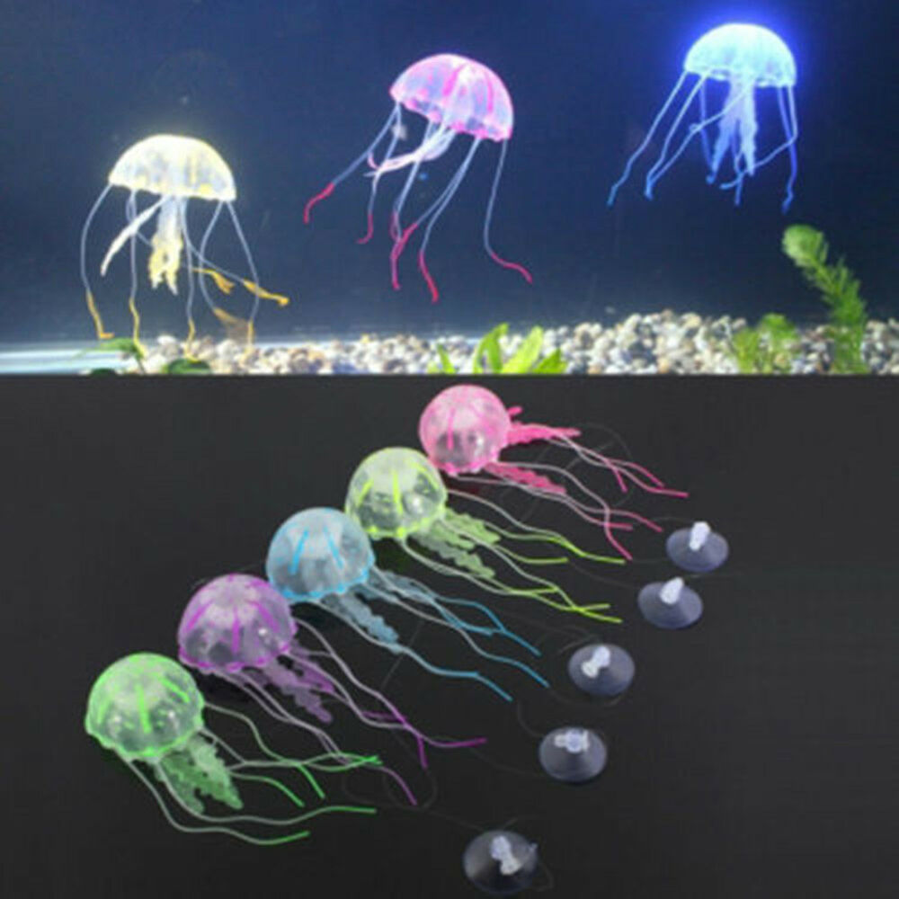 Various artificial effect glowing jelly fish tank aquarium for Artificial fish aquarium