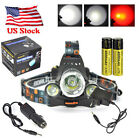 Rechargeable 12000lm Headlamp Hunting Headlight Head Torch 2x18650 +Charger Kit