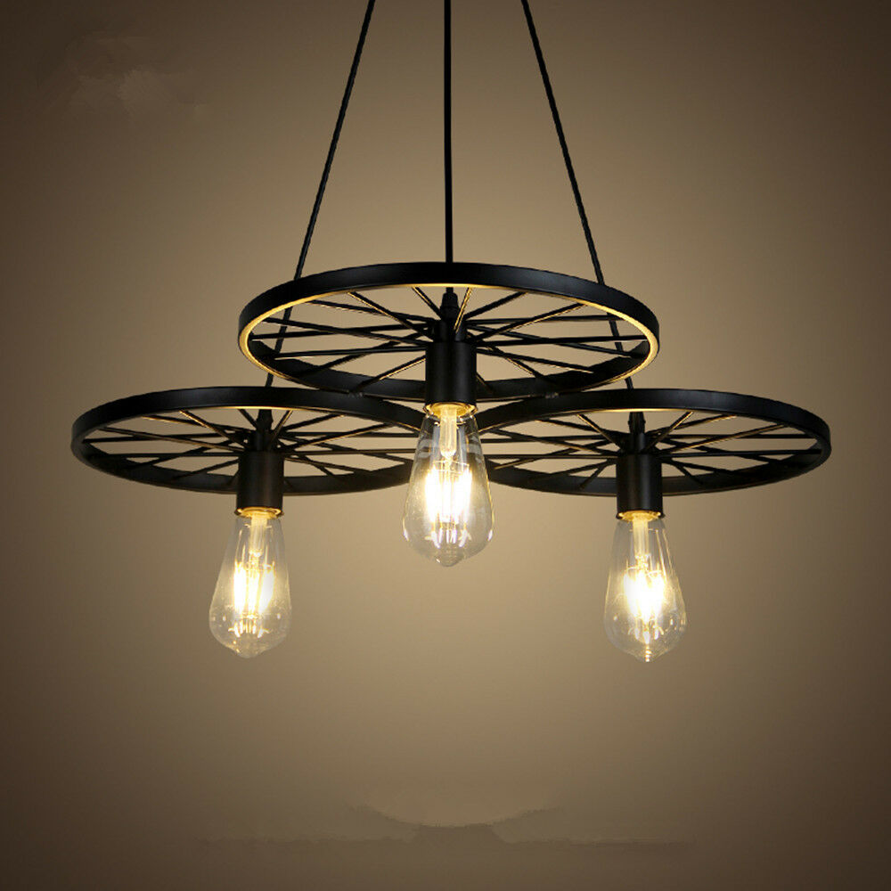 Black Chandelier Lighting Kitchen Vintage Pendant Light