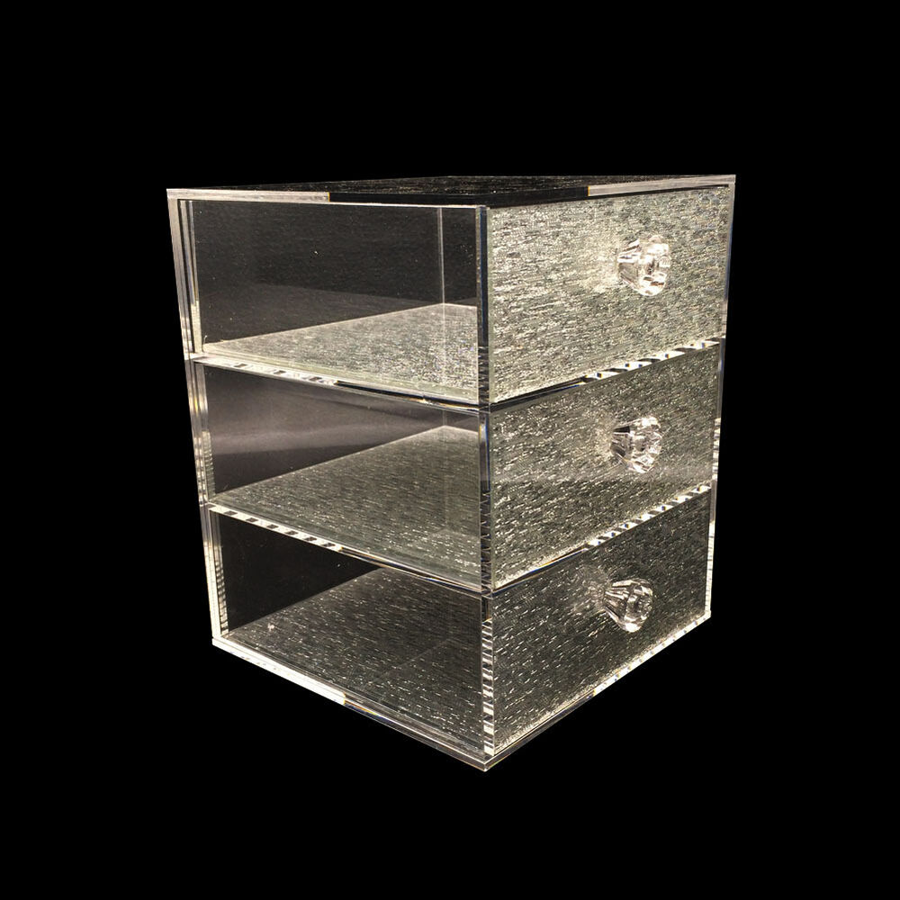 Acrylic Jewelry Boxes : Jewelry clear acrylic case multipurpose drawer bling