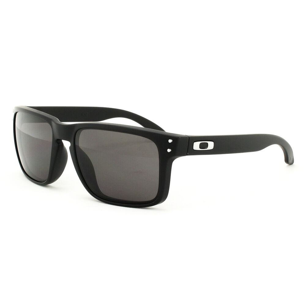 21a1ef391ff Oakley Holbrook Polarized Sunglasses Matte Black Warm Grey ...