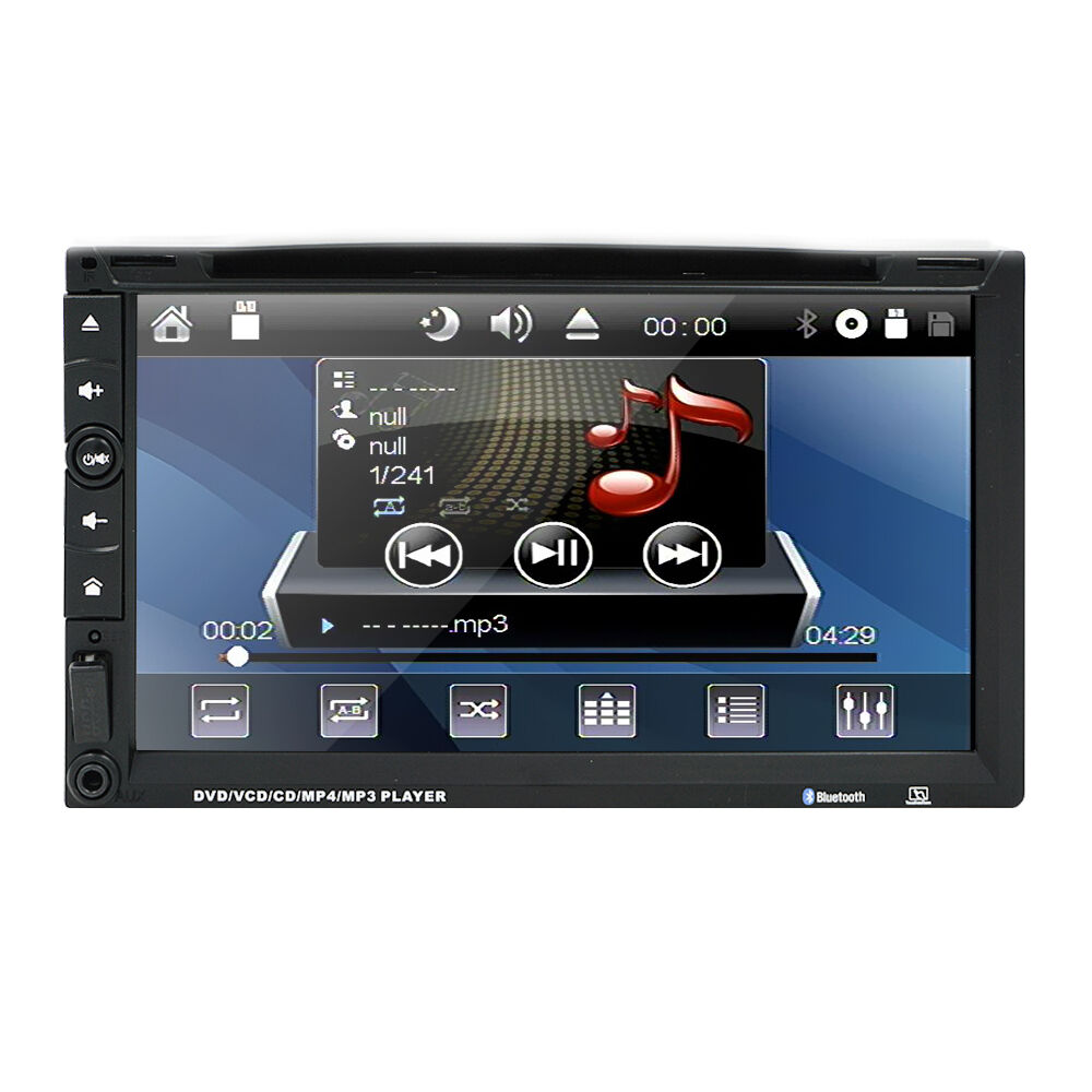 hd double 2 din 7 in dash car dvd cd player mp3 stereo. Black Bedroom Furniture Sets. Home Design Ideas