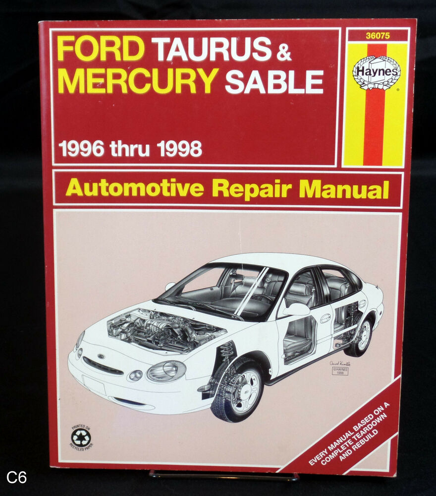 HAYNES FORD TAURUS & MERCURY SABLE 1996 THUR 1998 AUTOMOTIVE REPAIR MANUAL  C6 | eBay
