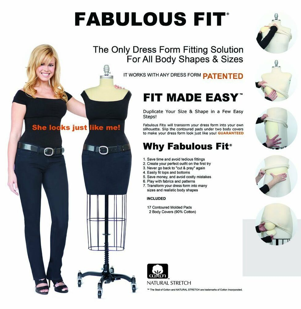 Fity Fab Fit: Fabulous Fit Dress Form Fitting System - Small