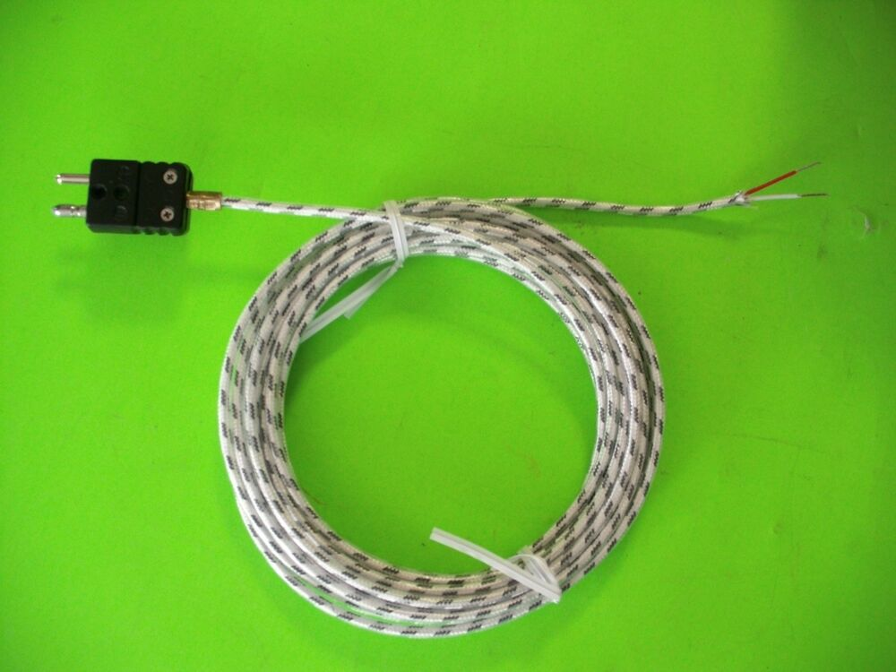 Type J Thermocouple 20 Gauge Stranded Flexible Wire Glass