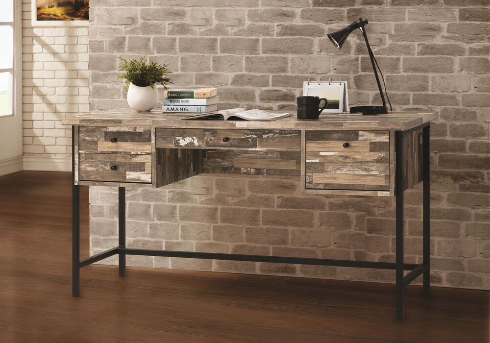 Rustic Style Writing Computer Office Desk w/ Drawers ...