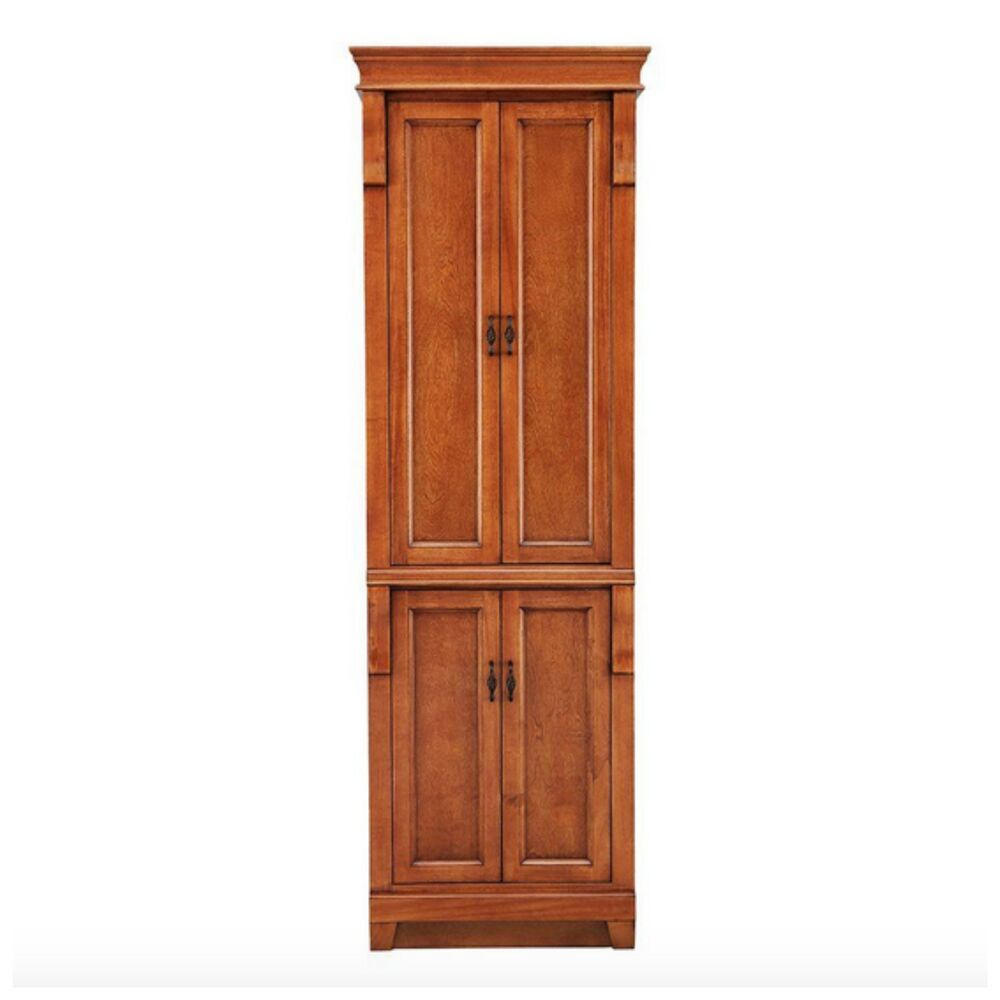 Wooden tall slim linen towel bathroom cabinet storage - Tall bathroom storage cabinets with doors ...