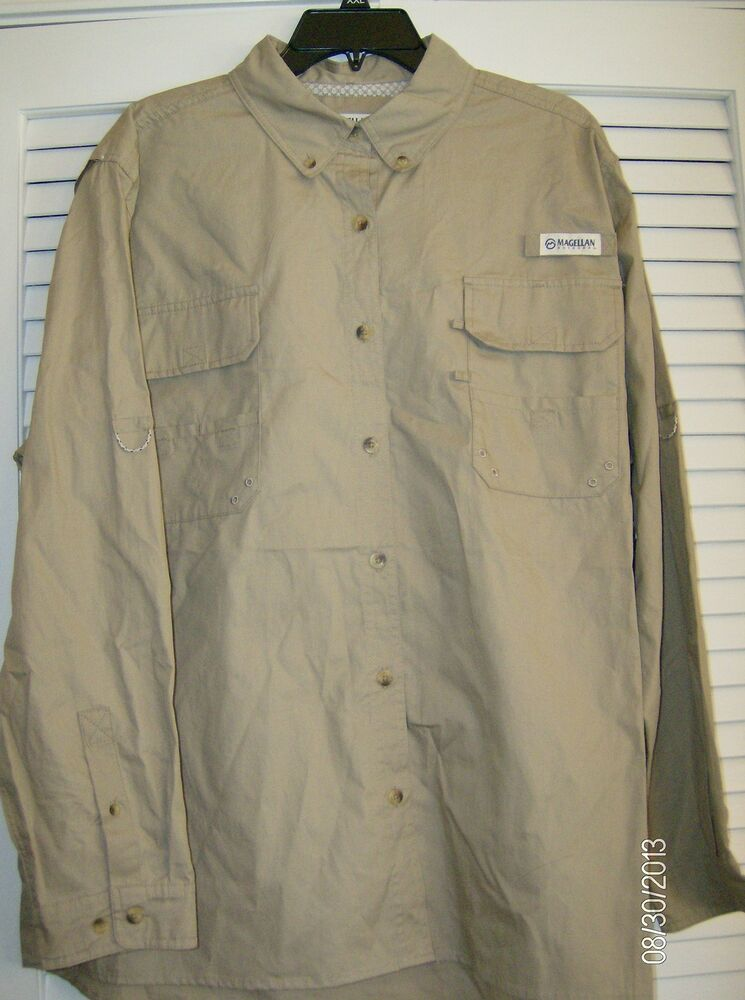 Magellan fish gear ladies fishing shirt upf 20 xxl 10 for Magellan fishing shirts