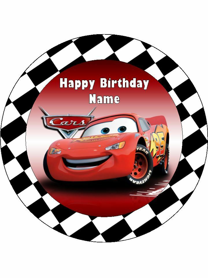 Edible Cake Decorations Cars : CARS LIGHTNING McQUEEN 19CM KOPYKAKE EDIBLE ICING IMAGE ...