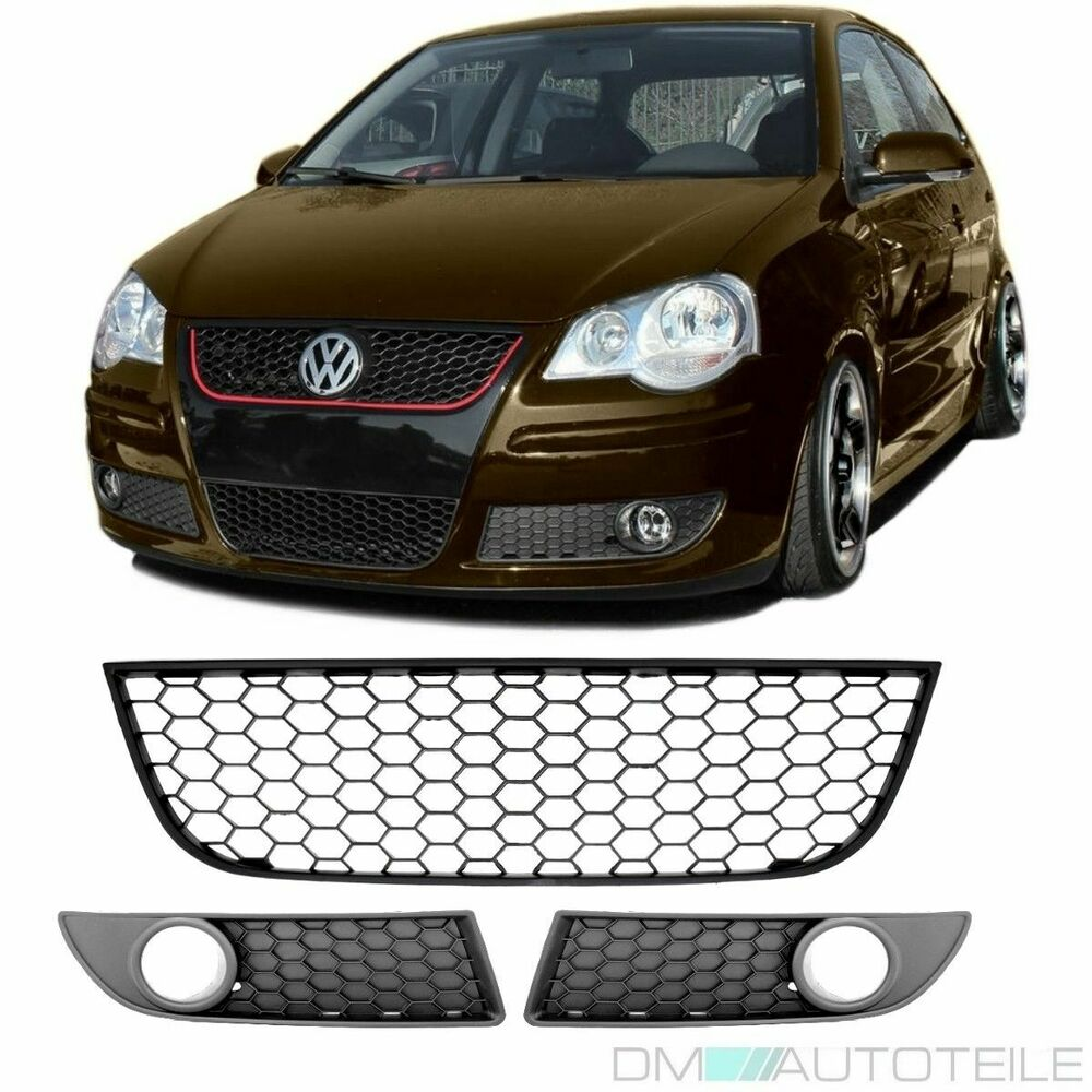vw polo 9n3 gti front bumper lower honeycomb fog lamp. Black Bedroom Furniture Sets. Home Design Ideas
