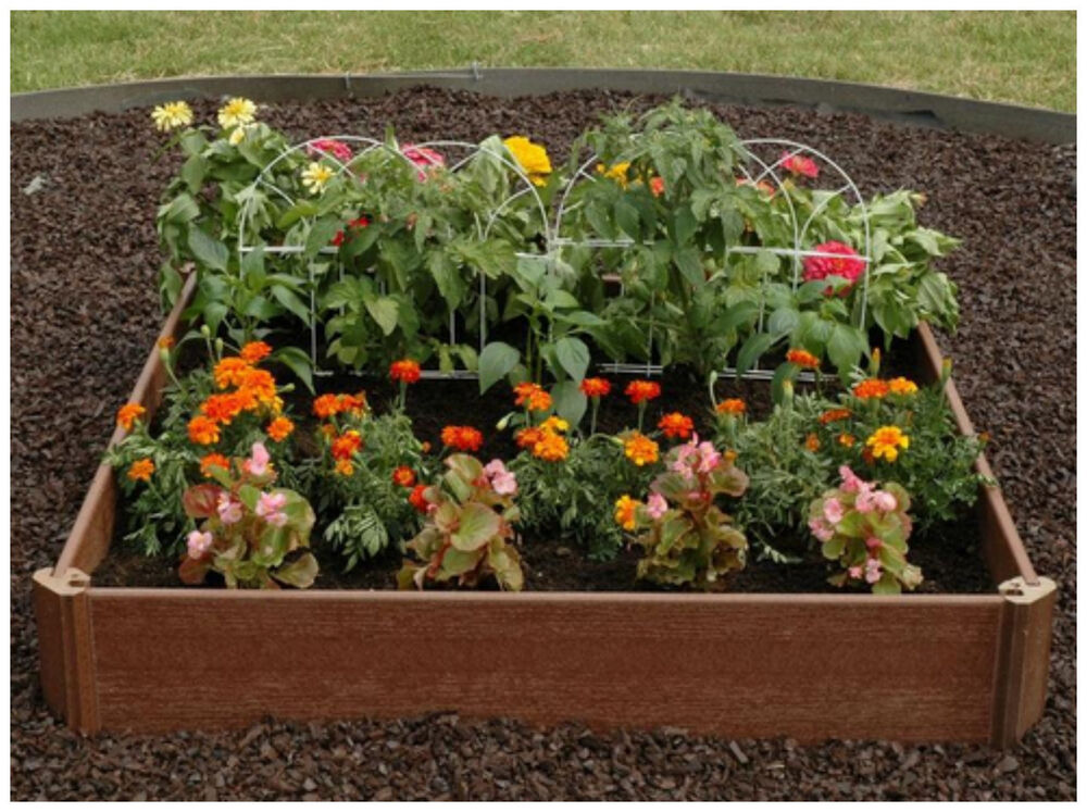 Outdoor raised elevated garden bed planter box pot kit for Best plants for flower beds