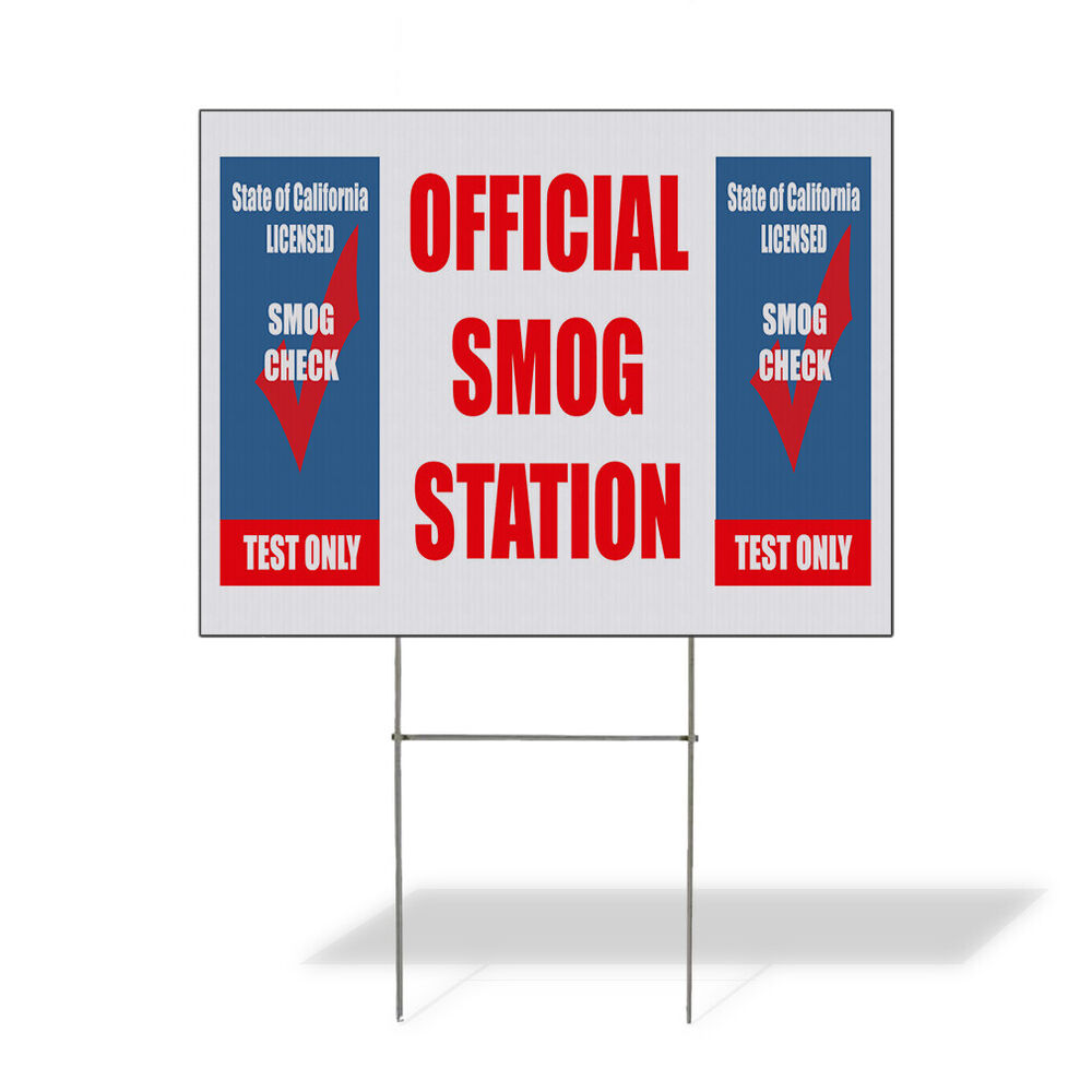 ficial Smog Station Smog Check Test Corrugated Plastic