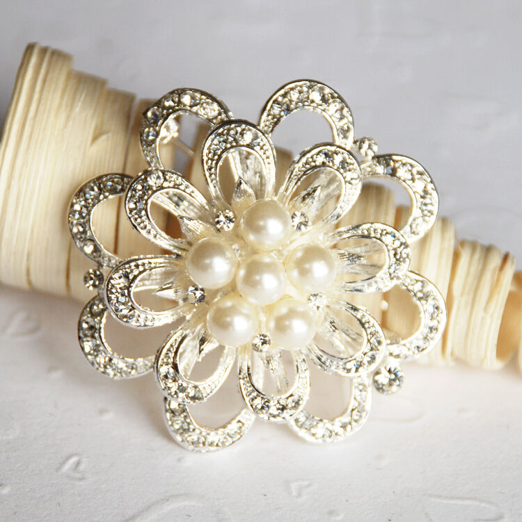 wedding cake brooches rhinestone pearl brooch wedding cake decoration 22107