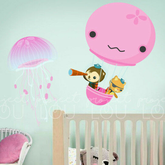 octonauts wall decals sticker large jelly fish balloon octonauts personalised sticker wall or iron on transfer