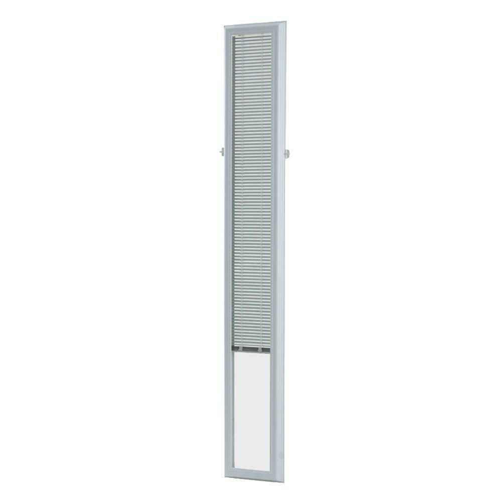 White Cordless 7 Quot X 64 Quot Aluminum Blind Add On Raised Frame