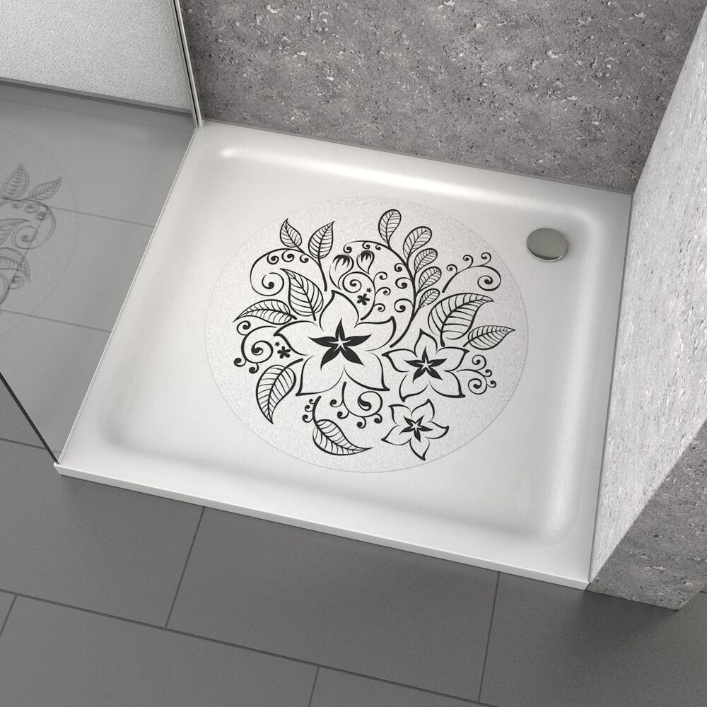 anti rutsch dusche badewanne aufkleber tattoo flowers ebay. Black Bedroom Furniture Sets. Home Design Ideas