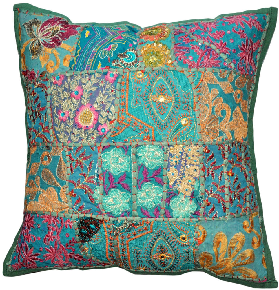 Colorful Pillows For Sofa: Decorative Throw Pillow Covers Couch Pillow Sequins Beads