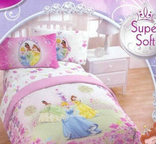 Disney princess comforter twin full size licensed bedding tiana cinderella new ebay - Twin size princess bed set ...