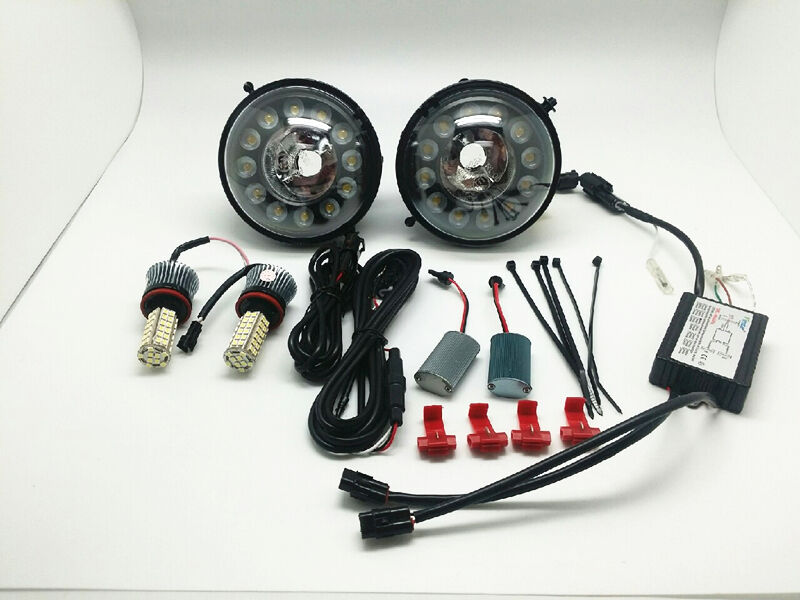 LED Daytime Running Lights Fog Lamps Assembly Kit+Bulbs