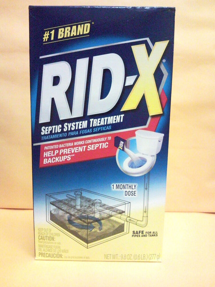 Rid X Septic System Treatment 9 8oz 1 Monthly Dose For