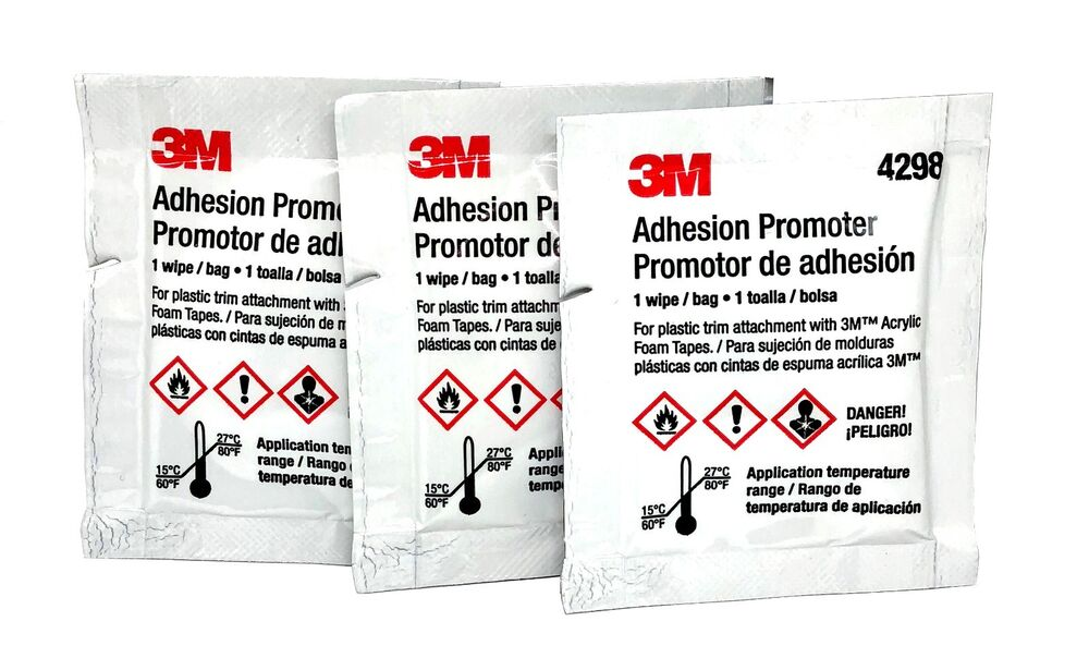 3M 4298 Adhesion Promoter for Acrylic and Rubber Based Tapes, 3 Pack | eBay
