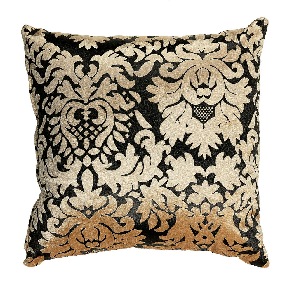 Cortesi home dama decorative damask square accent pillow for Decorating with throw pillows