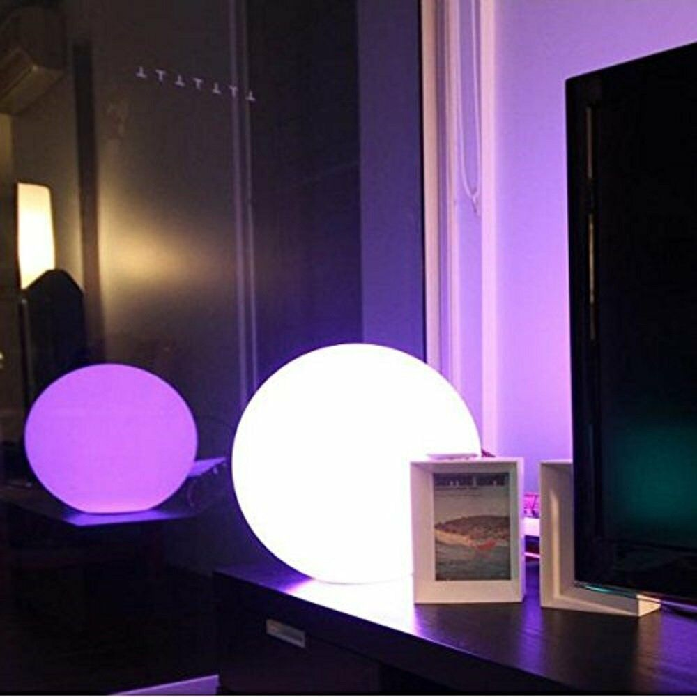 4 led floating colorful light in ball shaped waterproof. Black Bedroom Furniture Sets. Home Design Ideas