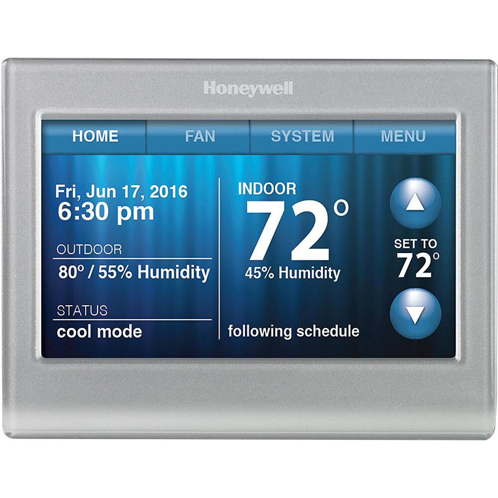 honeywell wi fi 9000 touchscreen thermostat silver ebay. Black Bedroom Furniture Sets. Home Design Ideas